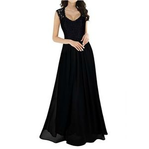 Stunning Deep-V Evening Gown in Black